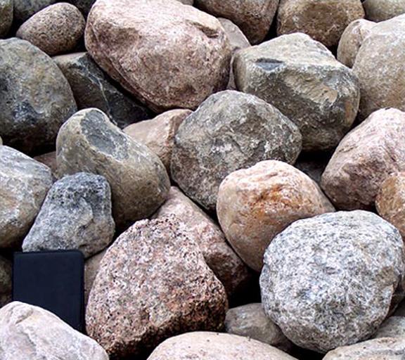 boulders  cobbles  ledge rock
